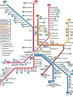Klang Valley Integrated Rail Transit Map