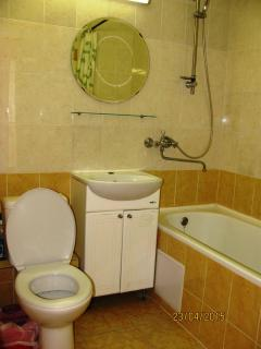 WC and shower  at Olimpijskaya-89 (2-bedroom apartment)