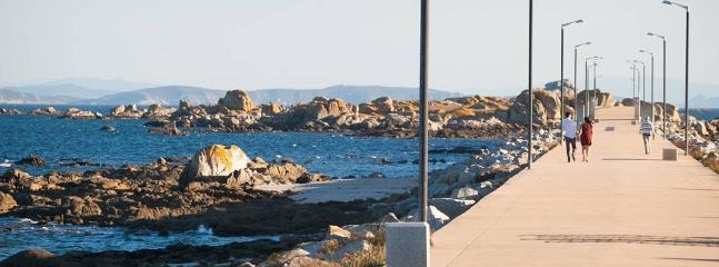 Vista Ribeira, paseo marítimo del Carreiro, Aguiño