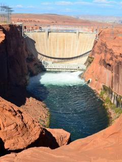Just two hours from Zion is Lake Powell and Glen Canyon Dam and the North Rim of the grand canyon