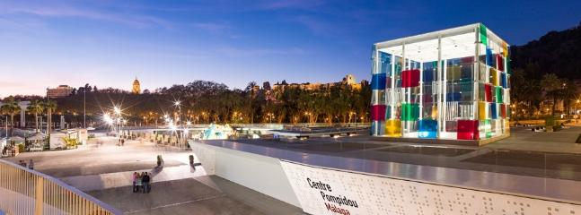 The Málaga Pompidou Center, 5 minutes walk away from your residence