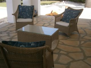 Patio furniture for shaded seating