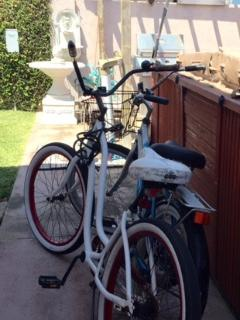 two cruiser bikes for you to use