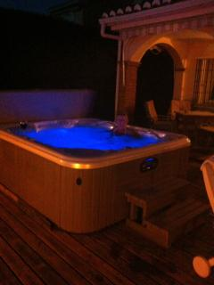 Mood lighting in the Jacuzzi