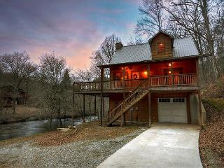 Waterfront at it's BEST!!!  3 BR, 2 BA cabin sitting directly on the Creek!