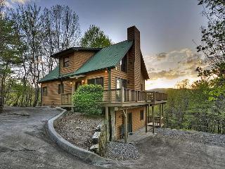 Dancing Bear Cabin Rental perched atop a ridge overlooking Rich Mountain!!