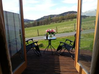 How about opening up your patio doors to this view every day?  You can at Kinnaird Woodland Lodges