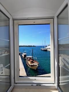Best location in Supetar, Apartment 2 - View from the bigger room