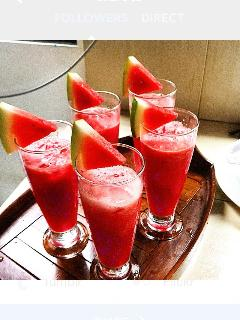Watermelon fresh juice as welcome drink
