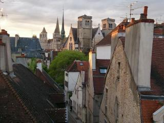 Large 85 sq/m. Light & spacious. Best view in Dijon. 2 bedrooms. Comfortable bed