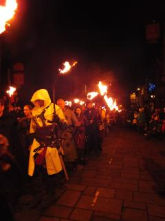 Medieval night in Conwy