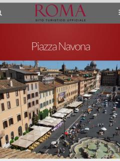 Roma, houses of popes and 'fighting' scultures. Place of bohemians, artists, gastronomias, fairs