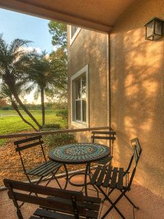 Patio 3 overlooking Golf Course & Evening Sun