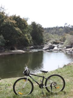 Cycling along the River Dao nearby.