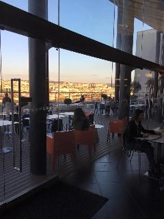 Dining alfresco at the Coimbra Forum looking out over the stunning University City.