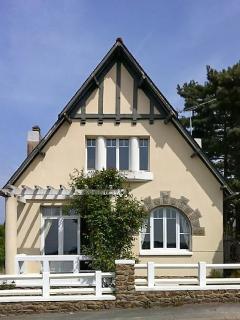 Beachfront house with garden