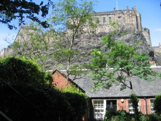 King's Stables: with view of Edinburgh Castle