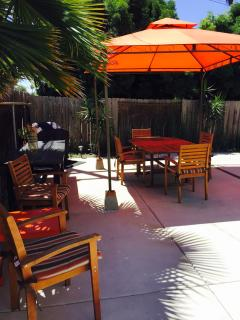 Added a new gazebo and Teak Dining Set with 6 matching chairs + 8 Foot long table