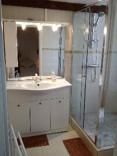 Salle de bain, lavabo, douche