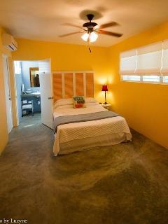 Large bedroom with queen bed and en-suite.