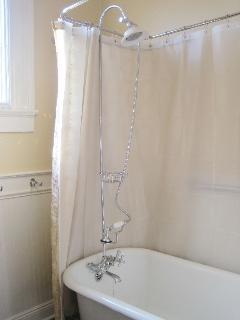 Clawfoot tub in the bathroom