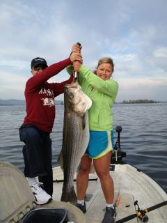 Big striper caught on Lake Hamilton