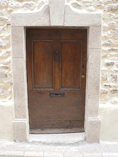 ~ beginning with the entrance door