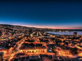 Valparaiso, beautiful bay view