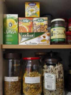 selection of herbal teas for the guests