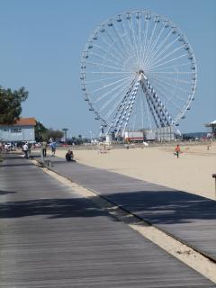 la piste cyclable et pédestre en bord de mer a 50 m de l;appartement