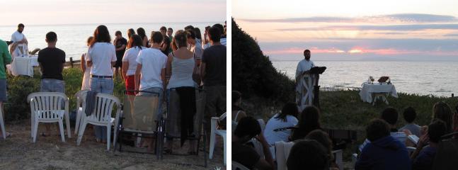 aperta a gruppi religiosi - suggestiva messa di fronte al mare