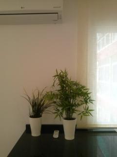 Aire acondicionado en salón comedor.