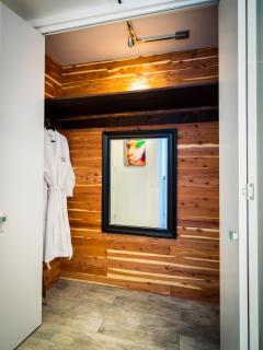 Cedar Lined Closet, Turkish Cotton Robes