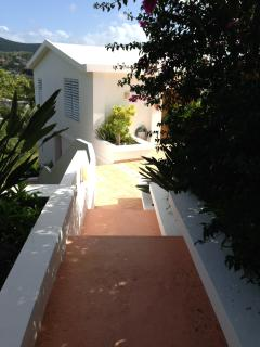 Entry walkway to villas