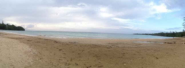 Panoramic view of the private beach