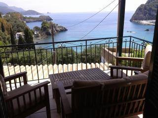 Seaview apartment for 4-5 persons,secluded quiet, Paleokastritsa