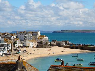 Admiral Cottage - garden, boutique with gorgeous harbour and sea views,  St Ives