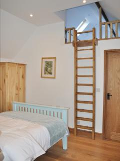 Dairy Cottage - Access to the Hay Loft from the main bedroom via ladder which opens