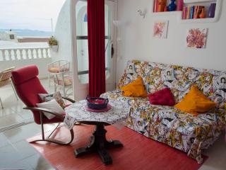 Living room with french window on the terrace