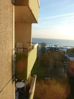 Der Blick vom Balkon auf die Kieler Förde
