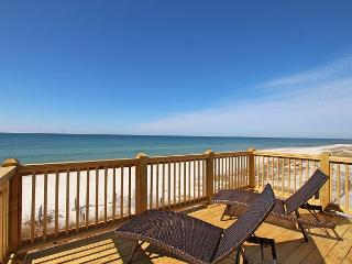 Enchanting Oceanfront N Cape 4 Bed/3 Bath Home, Gulf Front Bedrooms w /ecks, Cape San Blas