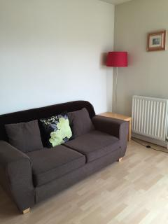 Double sofa bed in the lounge