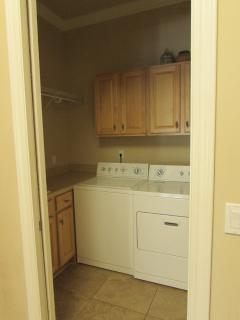 Close up of laundry room off of the kitchen.