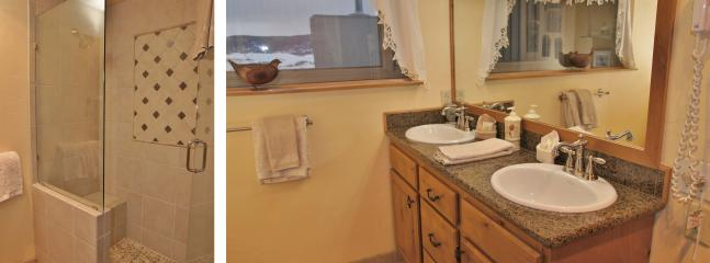 Upper Level Bathroom with Dual Sinks, Walk In Shower