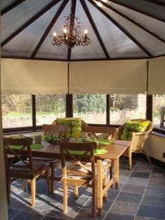 Dining Conservatory with fabulous views. Seats 6. Patio Doors.