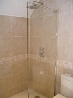 Large Walk in Shower in Bedroom 2