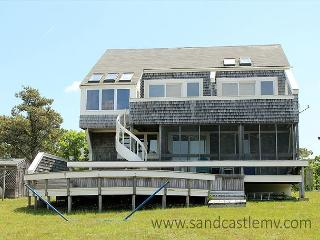 CHAPPAQUIDDICK HOME WITH EXPANSIVE VIEWS OF KATAMA BAY AND A SALT WATER MARSH