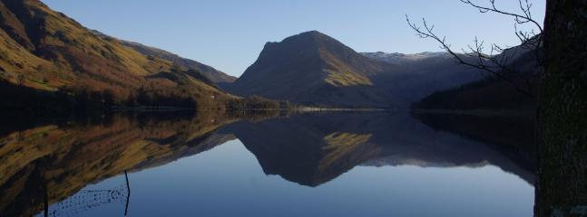 Looking at Fleetwith and Haystacks from Buttermere. A great way up to Wainright's favourite  tarn.