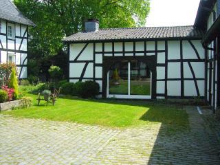 half-timbered estate with  Mediteranean flair