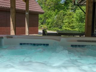 Ben Lomond 5 Star:  huge PRIVATE hot tub and sauna